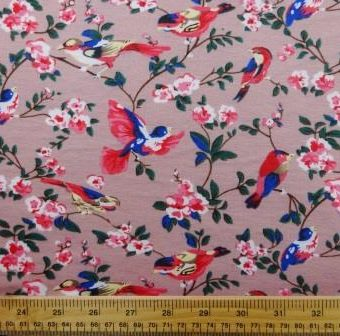 Floral Flirty Finches Pink