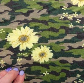 Floral Camouflage Lilly Beige/Lemon