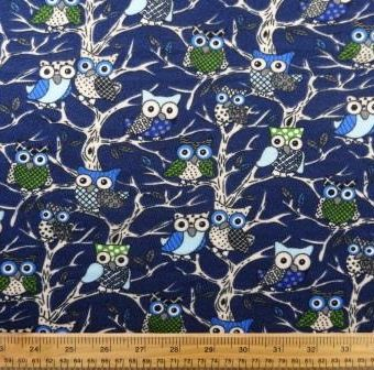 Tree Owls Navy