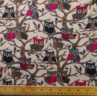 Tree Owls Beige