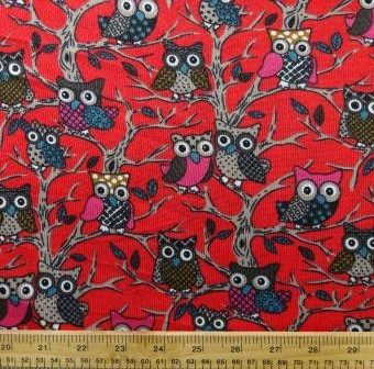 Tree Owls Red