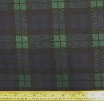 Tartan Knit Black Watch Navy Emerald