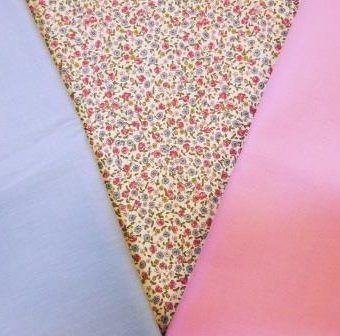 Cream Pink Hickory Rose/Pink/Pale Blue
