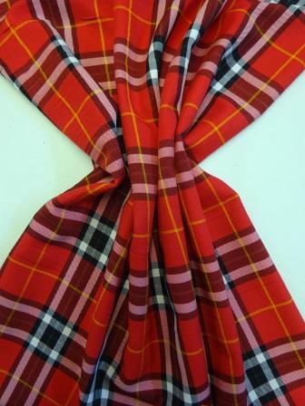 Tartan Red Suiting Fabric