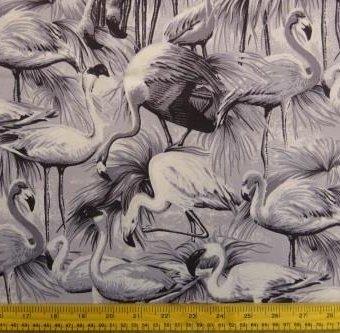 Monochromo Flamingos Grey