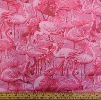 Monochrome Flamingos Pink