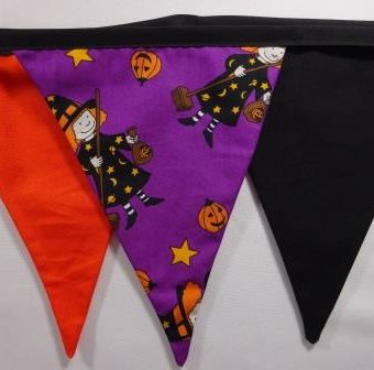 Halloween Witches Purple/Black/Orange